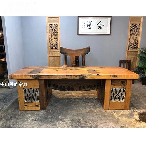 老船木简约办公桌