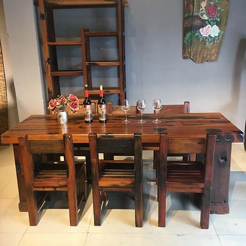 古船木餐桌